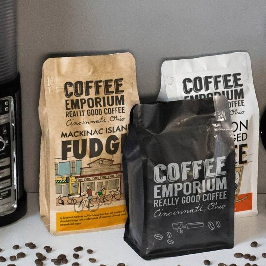 Printed Coffee Bags with Degassing Valve